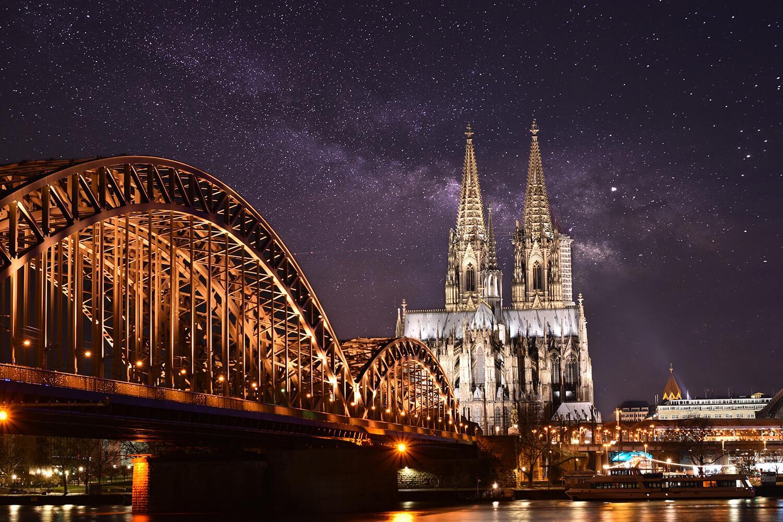 Kölner Dom und Brücke