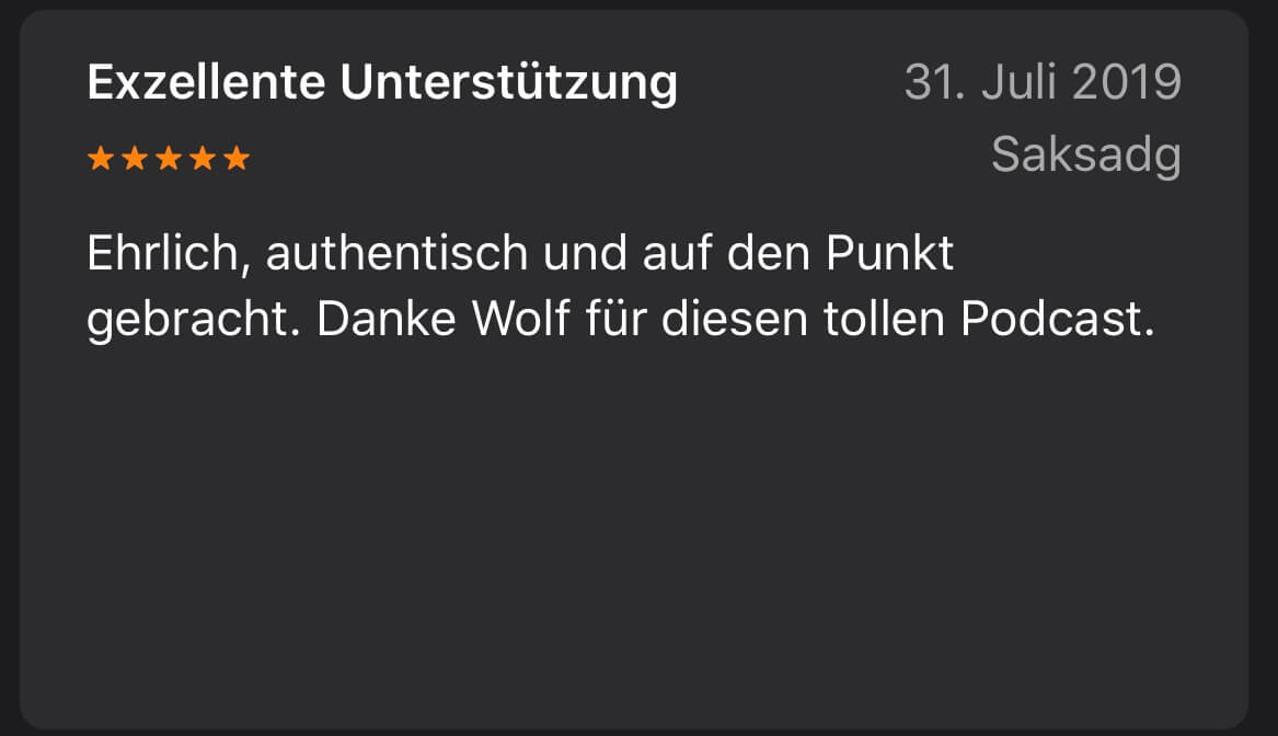 Wolf wills wissen Pocastreview - 3